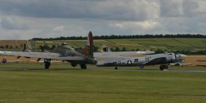 two b17s roll out to take off by Sceptre63