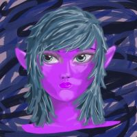 Purple elf thing by ShelterLight