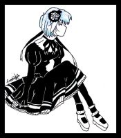 .:Gothic Lolita Rei Ayanami:. by FreakyDragonfly