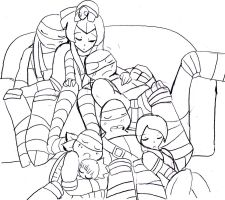 tmnt nap time by WolffangComics