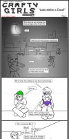 Minecraft Comic: Crafty Girls Pg 4 by TomBoy-Comics