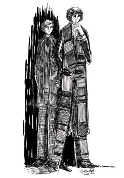 The4th Doctor and Mike Yates by herbertzohl