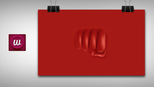 Red thumb by WallforAll