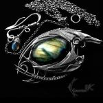 NARRUGHT DRACO - silver and labradorite by LUNARIEEN
