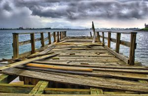 Old Pier II by E-Davila-Photography