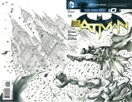 Batman Blank Cover Commission by quahkm