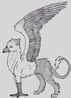 Gryphon sketch by HalfWayNormal
