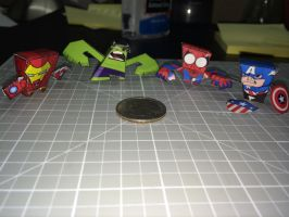 minibit + Marvel charaters by otherwld