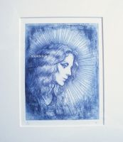 An angel in original glory (copperplate print ver) by NikiAndo