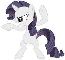Little Ninja Rarity by VanilleCream