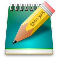 AmigaOS NotePad icon by balxavier