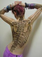Skeleton Henna by izzi-poems