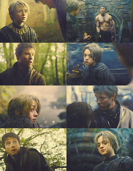 Gendry and Arya by Linds37