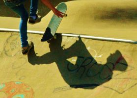 Skate with your Shadow close by vanaleapicz