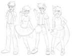 TRICKSTER MODE lineart by Izzydactyl