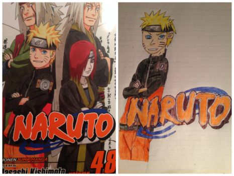 First sketch - Naruto Finished by kumoshinobi