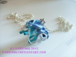 Shiny suicune necklace by yamicool