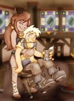 Battlegate: Hugo and Laylah by ArbitraryJane