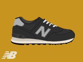 New Balance M574NK by GrubyKisiel