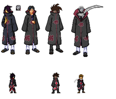 New Akatsuki Pixel Art by Clethrow