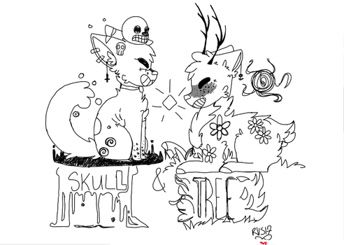 SKULL N' TREE | DOG N' DEER by Turn2Life
