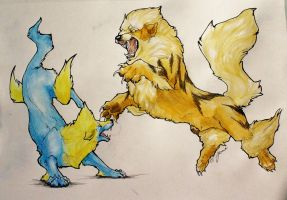 Wild Arcanine Appeared by Kempping