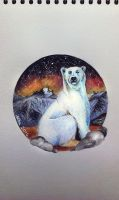 Watercolor polar bear by red-fox-child