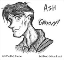 Evil Dead - Ash Sketch by nickowolf