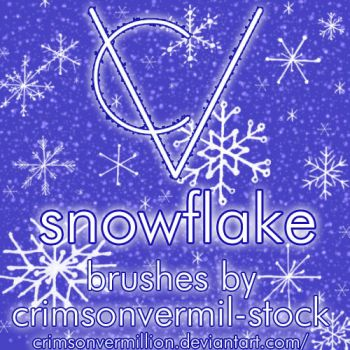 Hand Drawn Snowflake Brushes by crimsonvermil-stock