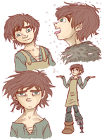 Slightly Older Hiccup sketches? by BlackRose108