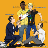 GTA V three protagoints and me by TinaPanther