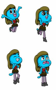 Request : Gumball Expressions by AngelaBlue18