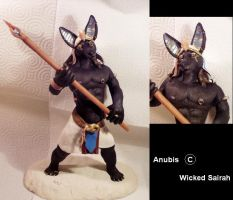 Anubis, God Of The Dead by WickedSairah