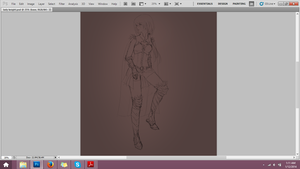 wip lady Knight by Louie-chan