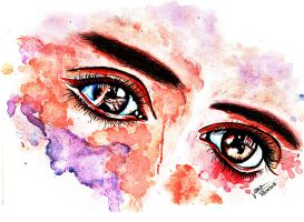 Eye Study Watercolor by jadelizabeth