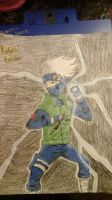 Kakashi  Hatake  colored by Redfangwolf21