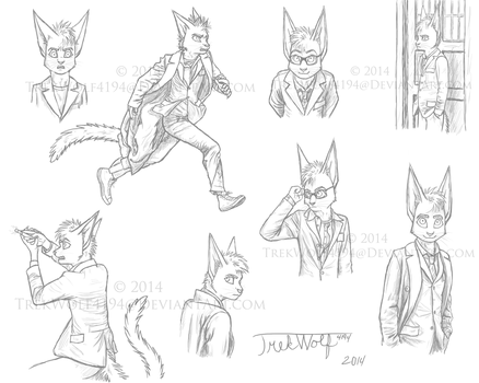 Tenth Doctor Sketches by Wolf-Trek