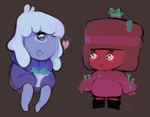 Succulent Ruby and Sapphy by Smitreen