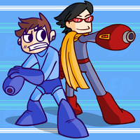 Duane and Brando- Megaman by funymony