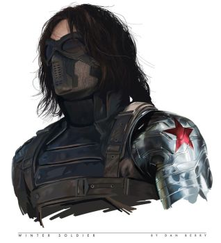 Winter Soldier Digital Painting by danomano65