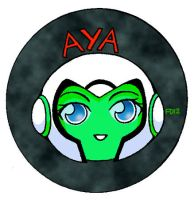 Aya Sticker by kitsunesama7