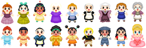Little Disney Ladies 2 by Anzeo