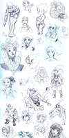 Sketch Dump 1 by AudreyGreenhalgh