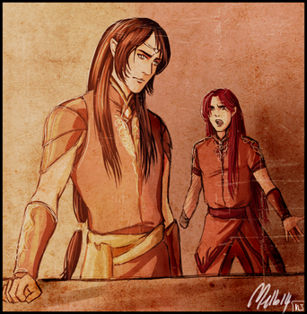 Maedhros and Maglor by MellorianJ