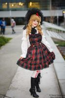 Victorian Tartan lolita- Christmas in the Park by jobiberry