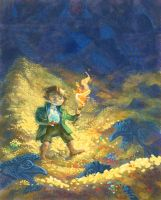 Bilbo Baggins and treasure by Bard-the-zombie
