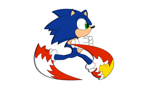 Sonic Running-STH4 Ep.1 Style by WingedKnight7