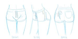 Rainbow Dash Pajama Shorts Concept Sketch by steffy-beff