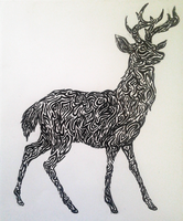 Tribal Stag Design by Tandenfee