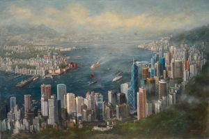 Hong Kong panorama 1997 by TimWC